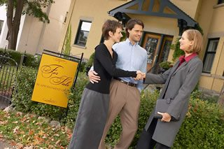 Business Couple with real estate agent BE 12 - Home